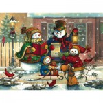 Puzzle  Cobble-Hill-54583 Janet Stever : Song for the Season