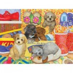 Puzzle  Cobble-Hill-54587 XXL Jigsaw Pieces - Amy Rosenberg - Hush Puppies