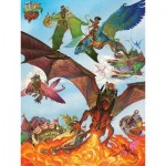 Puzzle  Cobble-Hill-54593 XXL Jigsaw Pieces - Dragon Flight