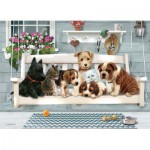Puzzle  Cobble-Hill-54602 XXL Pieces - Family - Porch Pals
