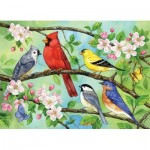Puzzle  Cobble-Hill-54606 XXL Pieces - Bloomin' Birds