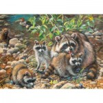 Puzzle  Cobble-Hill-54607 XXL Pieces - Raccoon Family