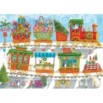 Puzzle  Cobble-Hill-54608 XXL Pieces - Christmas Train
