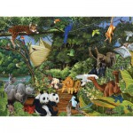 Puzzle  Cobble-Hill-54613 Noah's Gathering