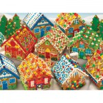 Puzzle  Cobble-Hill-54616 Gingerbread Houses