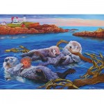 Puzzle  Cobble-Hill-54619 XXL Pieces - Sea Otter Family*