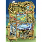 Puzzle  Cobble-Hill-54620 XXL Pieces - Reptiles and Amphibians