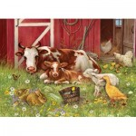 Puzzle  Cobble-Hill-54630 XXL Pieces - Barnyard Babies