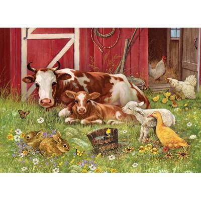 Puzzle Cobble-Hill-54630 XXL Pieces - Barnyard Babies