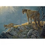 Puzzle  Cobble-Hill-54635 XXL Pieces - Excursion: Cougar and Kits