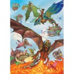 Puzzle  Cobble-Hill-54636 XXL Pieces - Dragon Flight