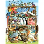 Puzzle  Cobble-Hill-54639 XXL Pieces - Birds of the World
