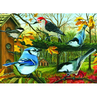 Puzzle Cobble-Hill-57125 Blue Jay and Friends
