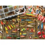 Puzzle  Cobble-Hill-57149 XXL Pieces - Fishing Lures