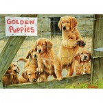 Puzzle  Cobble-Hill-57152 Golden Puppies