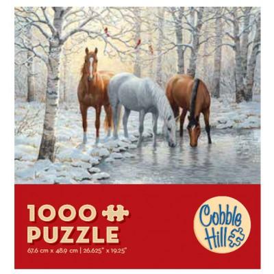 Puzzle Cobble-Hill-57157 Horse Trio