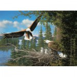 Puzzle  Cobble-Hill-57169 Nesting Eagles