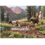Puzzle  Cobble-Hill-57184 XXL Pieces - Mountain Thunder
