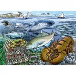 Cobble-Hill-58804 Frame Puzzle - Life in the Atlantic Ocean