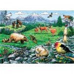 Cobble-Hill-58806 Frame Puzzle - Rocky Mountain Wildlife
