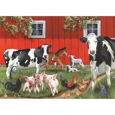 Puzzle Cobble-Hill-58849 Red Barn Farm
