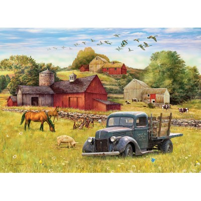 Puzzle Cobble-Hill-80002 Summer Afternoon on the Farm