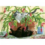 Puzzle  Cobble-Hill-80031 Cactus Kitties