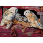 Puzzle  Cobble-Hill-80052 Barn Owls
