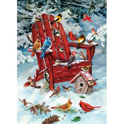 Puzzle Cobble-Hill-80069 Greg Giordano : Adirondack Birds