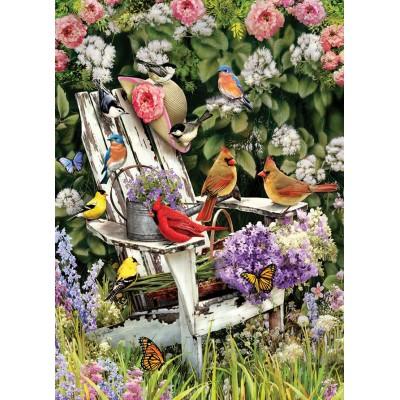 Puzzle Cobble-Hill-80090 Summer Adirondack Birds