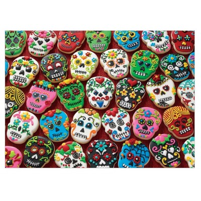 Puzzle Cobble-Hill-80144 Sugar Skull Cookies
