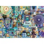 Puzzle  Cobble-Hill-80150 Blue