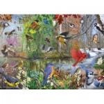 Puzzle  Cobble-Hill-80243 Birds of the Season