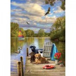 Puzzle  Cobble-Hill-80257 Dog Day Afternoon