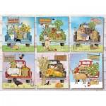 Puzzle  Cobble-Hill-80275 Farmer's Market Trucks