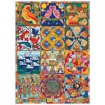 Puzzle  Cobble-Hill-80317 Twelve Days of Christmas Quilt