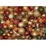 Puzzle  Cobble-Hill-85012 XXL Pieces - Christmas Balls
