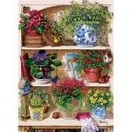 Puzzle  Cobble-Hill-85015 XXL Pieces - Flower Cupboard