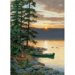 Puzzle  Cobble-Hill-85018 XXL Pieces - Canoe Lake