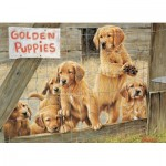 Puzzle  Cobble-Hill-85019 XXL Pieces - Golden Puppies