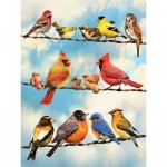 Puzzle  Cobble-Hill-85034 XXL Pieces - Birds on a Wire