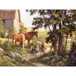 Puzzle  Cobble-Hill-85038 XXL Pieces - Summer Horses