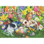 Puzzle  Cobble-Hill-85047 XXL Pieces - Easter Bunnies