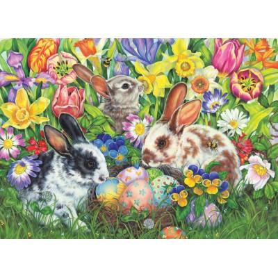 Puzzle Cobble-Hill-85047 XXL Pieces - Easter Bunnies