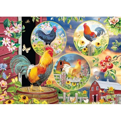 Puzzle Cobble-Hill-85058 XXL Pieces - Rooster Magic