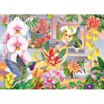 Puzzle  Cobble-Hill-85061 XXL Pieces - Hummingbird Magic