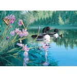 Puzzle  Cobble-Hill-85069 XXL Pieces - Iris Cove Loons