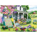 Puzzle  Cobble-Hill-85070 XXL Pieces - Spring Cleaning