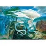 Puzzle  Cobble-Hill-85071 XXL Pieces - White Dragon
