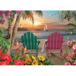 Puzzle  Cobble-Hill-85077 XXL Pieces - Island Paradise